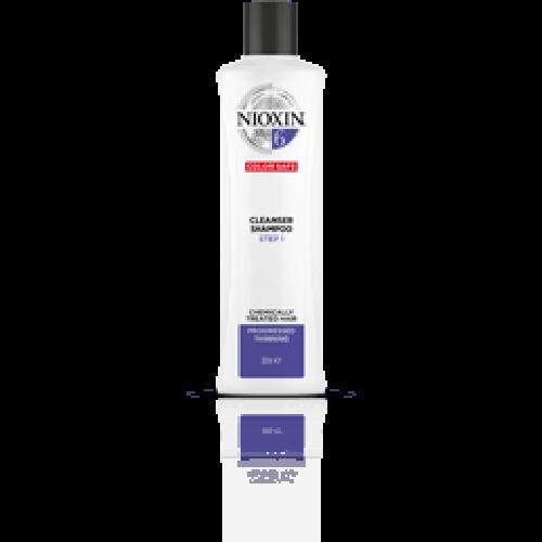 NIOXIN Shampoo System 6 1000ml για μαλλιά με χημικές εργασίες (ντεκαπάζ, περμανάντ) και διάχυτη αραίωση