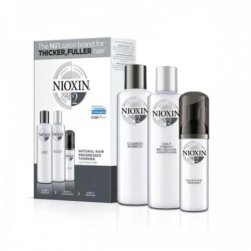 Nioxin Loyalty Kit 2 για φυσικά μαλλιά με διάχυτη αραίωση (shampoo 300ml, conditioner 300ml, treatment 100ml)